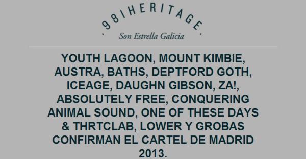 """Cartel definitivo del """"981Heritage SON Estrella Galicia"""" 2013"""