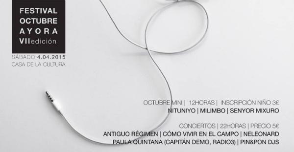 Nueva edición del Festival Octubre Ayora 2015