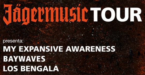 My Expansive Awareness, Baywaves y Los Bengala en el Jägermusic Tour
