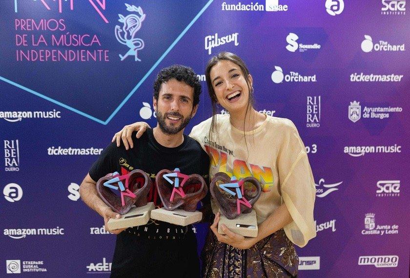 Delaporte, Triángulo de Amor Bizarro y Rigoberta Bandini triunfan en los Premios MIN